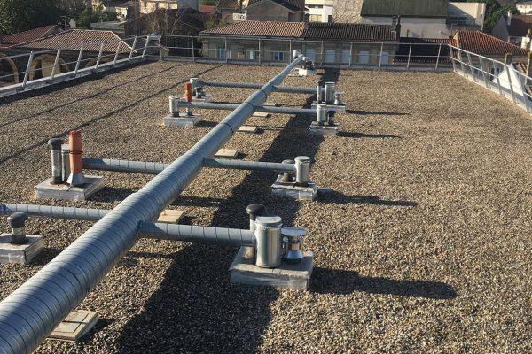 Réseau de toit terrasse à Bordeaux