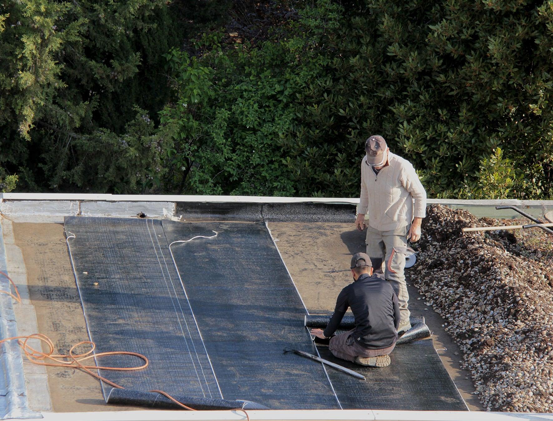 Toit terrasse étanché goudronné par EIB